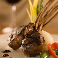 Grilled Mongolian Lamb Chops with Brandy Demiglace, Chef Chai Chaowasaree for HVCB.
