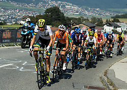 Peloton during the Women's Elite Road Race a 156.2km race from Kufstein to Innsbruck 582m at the 91st UCI Road World Championships 2018 / RR / RWC / on September 29, 2018 in Innsbruck, Austria. Photo by Vid Ponikvar / Sportida