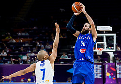 Shawn Huff of Finland vs Luigi Datome of Italy during basketball match between National Teams of Finland and Italy at Day 10 in Round of 16 of the FIBA EuroBasket 2017 at Sinan Erdem Dome in Istanbul, Turkey on September 9, 2017. Photo by Vid Ponikvar / Sportida