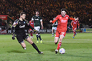 Ashley Nadesan (10) of Crawley Town on the attack during the EFL Sky Bet League 2 match between Plymouth Argyle and Crawley Town at Home Park, Plymouth, England on 28 January 2020.