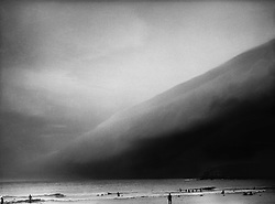bondi storm,southerly buster, mamiya 645 camera,typical afternoon storm during summer in Sydney, photography of Bondi Beach by Paul Green