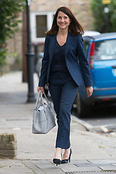 © Licensed to London News Pictures. 08/09/2015. London, UK. Labour party leadership candidate, LIZ KENDALL MP arrives at Clapham Manor Children's Centre in south west London. Photo credit : Vickie Flores/LNP