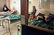 Cancer patients at the Basrah medical college hospital.  Cancer rates have risen exponentially in the region of Basrah which was heavily bombed with depleted uranium weapons during the Gulf War.  <br />