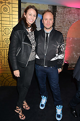 NICHOLAS KIRKWOOD and CAROLINE RUSH at a party to celebrate 10 years of footware designer Nicholas Kirkwood held at 9 Adam Street, London on 19th September 2015.