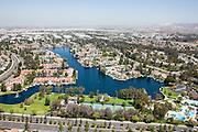Lake Forest Sun & Sail Club Aerial Stock Photo