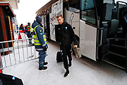 OSTERSUND, SWEDEN - MARCH 17: Rasmus Bengtsson of Malmo FF arrives prior to the the Swedish Cup Semifinal between Ostersunds FK and Malmo FF at Jamtkraft Arena on March 17, 2018 in Ostersund, Sweden. Photo: Nils Petter Nilsson/Ombrello ***BETALBILD***