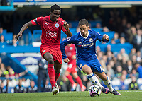Football - 2016/2017 Premier League - Chelsea V Leicester.<br /> <br /> Eden Hazard of Chelsea breaks from Daniel Amartey of Leicester City at Stamford Bridge.<br /> <br /> COLORSPORT/DANIEL BEARHAM