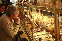 Lyon, France..in the Pignol pastry shop, near Place Bellecour..Lyon's 2nd arrondissement.