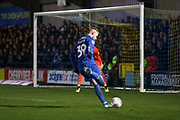 AFC Wimbledon striker Joe Pigott (39) about to shoot at goal during the EFL Sky Bet League 1 match between AFC Wimbledon and Burton Albion at the Cherry Red Records Stadium, Kingston, England on 28 January 2020.