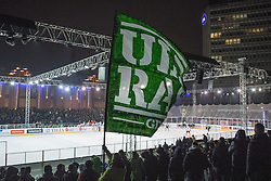 View on the rink during ice hockey match between HDD Telemach Olimpija and HDD SIJ Acroni Jesenice at Winter Classic of HDD Telemach Olimpija called Pivovarna Union Ice Fest 2014, on December 18, 2014 on Republic Square, Ljubljana, Slovenia. (Photo By Matic Klansek Velej / Sportida.com)