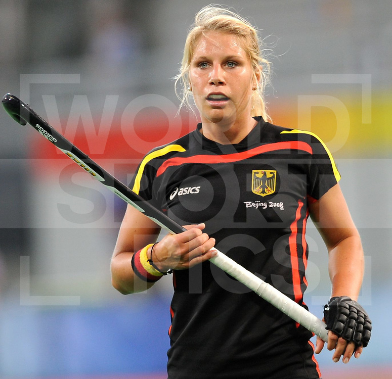 080814 Beijling Chi..Olympic games 2008 Hockey game women...Germany-Argentina. HOFFMANN Eileen..FFU Press Agency©2008 Frank Uijlenbroek