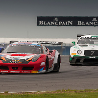 #16 Akka ASP Ferrari 458 Italia driven by Fabien Barthez and Anthony Pons, #7 Bentley Team M Sport Bentley Continental GT3 driven by Guy Smith, Andy Meyrick and Steven Kane, Blancpain Endurance Series, 23 May 2015
