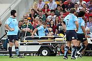 Drew Mitchell down injuried. Queensland Reds v NSW Waratahs. Investec Super Rugby Round 10 Match, 24 April 2011. Suncorp Stadium, Brisbane, Australia. Reds won 19-15. Photo: Clay Cross / photosport.co.nz