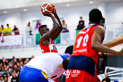 Daniel Edozie of Bristol Flyers in action - Rogan/JMP - 13/10/2017 - BASKETBALL - SGS Wise Arena - Bristol, England. - Bristol Flyers v Cheshire Pheonix - BBL Cup.