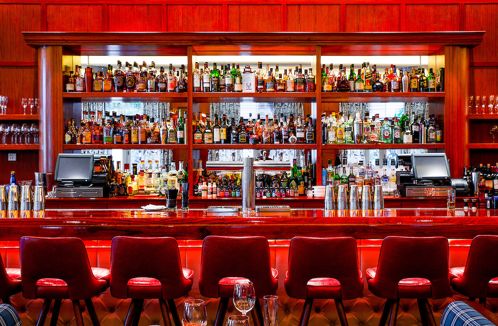 The bar at at Lure Fishbar in the Loews Miami Beach Hotel