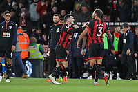 Football - 2018 / 2019 Premier League - AFC Bournemouth vs. Crystal Palace<br /> <br /> Bournemouth's Lewis Cook restrains Bournemouth's Steve Cook at the final whistle as tempers boil over at the Vitality Stadium (Dean Court) Bournemouth <br /> <br /> COLORSPORT/SHAUN BOGGUST