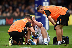 Nick Schonert of Worcester Warriors is treated for an injury - Mandatory byline: Patrick Khachfe/JMP - 07966 386802 - 28/09/2019 - RUGBY UNION - The Recreation Ground - Bath, England - Bath Rugby v Worcester Warriors - Premiership Rugby Cup