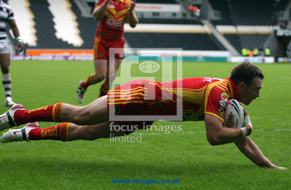 Hull - Sunday, February 17th, 2008: Catalan's Justin Murphy goes over just before half time for a catalan dragons try during the Engage Super League match at  Hull (Pic by Darren Walker/Focus Images)