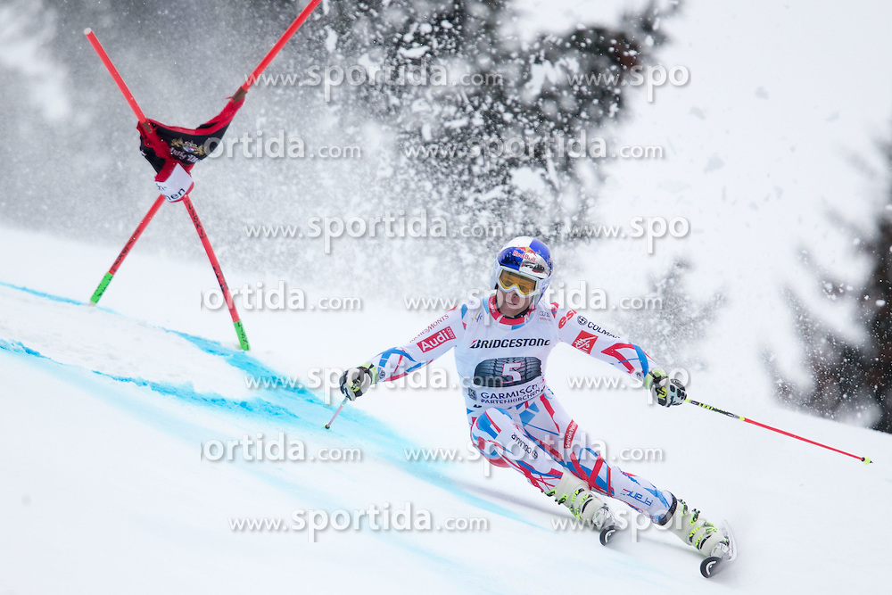 01.03.2015, Kandahar, Garmisch Partenkirchen, GER, FIS Weltcup Ski Alpin, Riesenslalom, Herren, 1. Lauf, im Bild Alexis Pinturault (FRA) // Alexis Pinturault of France in action during 1st run for the men's Giant Slalom of the FIS Ski Alpine World Cup at the Kandahar course, Garmisch Partenkirchen, Germany on 2015/03/01. EXPA Pictures © 2015, PhotoCredit: EXPA/ Johann Groder