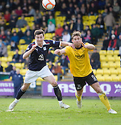 Dundee's Carl Finnigan and Livingston's Kyle Jacobs - Livingston v Dundee, IRN BRU Scottish Football League, First Division - ..© David Young - .5 Foundry Place - .Monifieth - .Angus - .DD5 4BB - .Tel: 07765 252616 - .email: davidyoungphoto@gmail.com.web: www.davidyoungphoto.co.uk