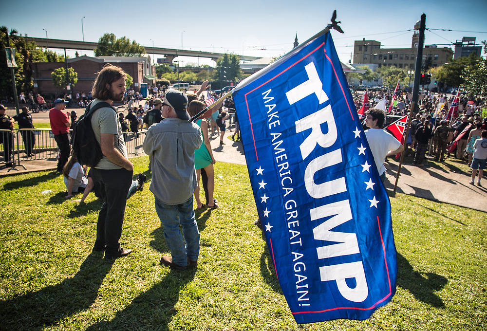 Trump supporter at Lee Circle.