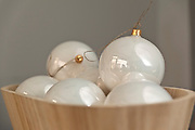 Decoupage christmas baubles hand made in Poland photography by Piotr Gesicki