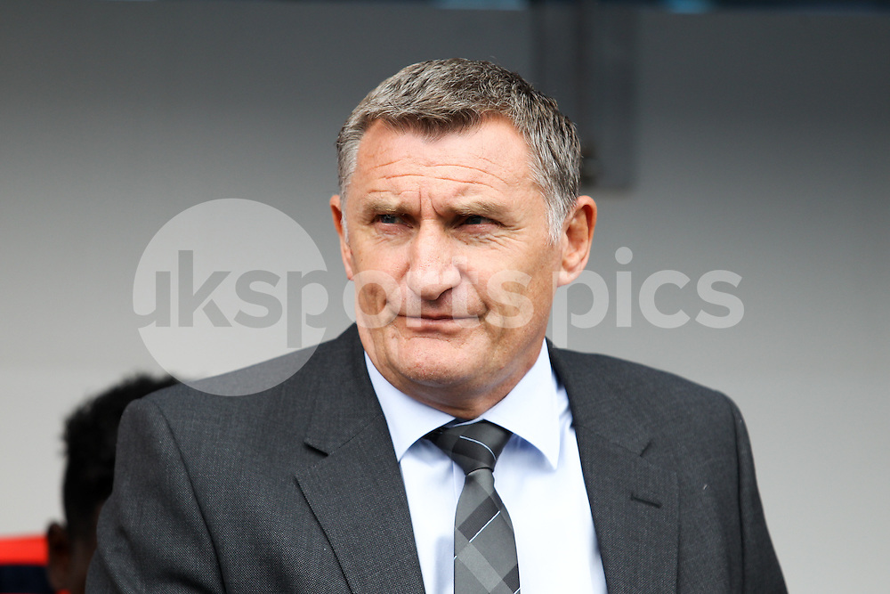 Coventry City manager Tony Mowbray before during the Sky Bet League 1 match between Millwall and Coventry City at The Den, London, England on 15 August 2015. Photo by Edmund  Boyden.