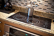Electric Stove Cooktop Stock Photo