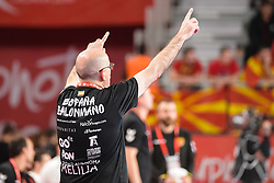 Jordi Ribera, head coach of Spain during handball match between National teams of Macedonia and Spain on Day 4 in Main Round of Men's EHF EURO 2018, on January 21, 2018 in Arena Varazdin, Varazdin, Croatia. Photo by Mario Horvat / Sportida
