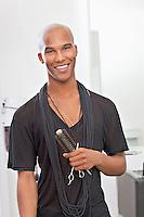 Portrait of hairdresser smiling