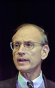 U.S Under Secretary of State Stuart Eizenstat at the opening ceremony for the Conference on Holocaust-Era Assets at the US Holocaust Museum November 30, 1998 in Washington, DC.