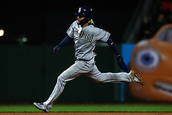 SAN FRANCISCO, CA - APRIL 08: Fernando Tatis Jr. #23 of the San Diego Padres runs to third base against the San Francisco Giants during the seventh inning at Oracle Park on April 8, 2019 in San Francisco, California. The San Diego Padres defeated the San Francisco Giants 6-5. (Photo by Jason O. Watson/Getty Images) *** Local Caption *** Fernando Tatis Jr.
