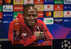 BARCELONA, SPAIN - Tuesday, April 30, 2019: Liverpool's Sadio Mane during a press conference ahead of the UEFA Champions League Semi-Final 1st Leg match between FC Barcelona and Liverpool FC at the Camp Nou. (Pic by David Rawcliffe/Propaganda)