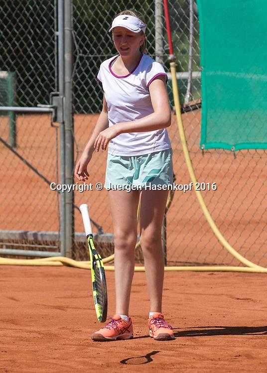 Tennis Europe-Bavarian Junior Open, Julie  Sappl (SUI) GS14<br /> <br /> Tennis - Bavarian Junior Open 2016 - Tennis Europe Junior Tour -  SC Eching - Eching - Bayern - Germany  - 8 August 2016. <br /> &copy; Juergen Hasenkopf