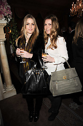 Left to right, the HON.PHILIPPA CADOGAN and VITTORIA PETITBON at a party to celebrate Penguin's reissue of Nancy Mitford's 'Wigs on The Green' hosted by Tatler at Claridge's, Brook Street, London on 10th March 2010.