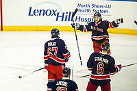 April 05, 2014: New York Rangers Right Wing Mats Zuccarello (36) 7214 scores 2 goals in the second period of a NHL Eishockey Herren USA game between the Ottawa Senators and the New York Rangers at Madison Square Garden in New York, NY. NHL Eishockey Herren USA APR 05 Senators at Rangers <br />