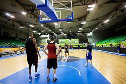 Team during practice session of France team before Eurobasket 2013 on September 3rd, 2013 in Tivoli Hall, Ljubljana, Slovenia. (Photo By Urban Urbanc / Sportida.com)
