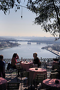 panoramic view of the Golden Horn river looking towards the old City area of Istanbul