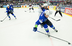 Anze Kopitar of Slovenia vs John Moore jr. of USA during Ice Hockey match between Slovenia and USA at Day 10 in Group B of 2015 IIHF World Championship, on May 10, 2015 in CEZ Arena, Ostrava, Czech Republic. Photo by Vid Ponikvar / Sportida