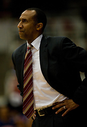 February 27, 2010; Stanford, CA, USA;  Stanford Cardinal head coach Johnny Dawkins during the first half against the Arizona Wildcats at Maples Pavilion. Arizona defeated Stanford 71-69.