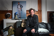 Film Director, Tim Burton, in his North London studio, UK.