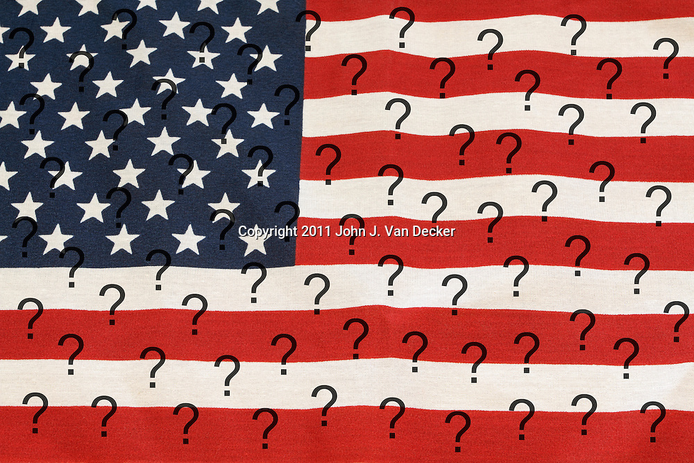 Conceptual image questioning the direction of the United States