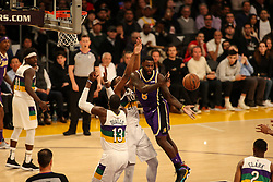 February 27, 2019 - Los Angeles, CA, U.S. - LOS ANGELES, CA - FEBRUARY 27: Los Angeles Lakers Forward Lance Stephenson (6) pass the ball during second half of the New Orleans Pelicans versus Los Angeles Lakers game on February 27, 2019, at Staples Center in Los Angeles, CA. (Photo by Icon Sportswire) (Credit Image: © Icon Sportswire/Icon SMI via ZUMA Press)