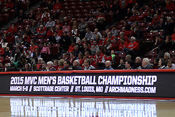 07 January 2015:  Official bench  during an NCAA MVC (Missouri Valley Conference) men's basketball game between the Drake Bulldogs and the Illinois State Redbirds at Redbird Arena in Normal Illinois.  Illinois State comes out victorious 81-45.