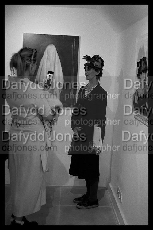 EMMA WOOLARD; LADY HENRIETTA ROUS, Behind the Silence. private view  an exhibition of work by Paul Benney and Simon Edmondson. Serena Morton's Gallery, Ladbroke Grove, W10.  4 November 2015.