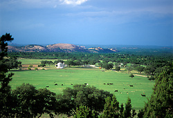 Enchanted Rock defines a valley near Fredericksburg.