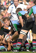 EDF Energy Cup, Quins Will SKINNER, digs the ball out during the NEC Harlequins vs Sale Sharks,  at the Stoop Stadium, Twickenham. 07/10/2006 . [Photo, Peter Spurrier/Intersport-images]..
