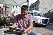 Murat, Auvergne, Cantal, France. In Murat the digital development  helps to boost the territory, the region finances and accompanies new entrepreneurs by paying for their accomodation and basic wage from 3 to 6 months, as well as giving support for chosen projects. Territorial marketing.