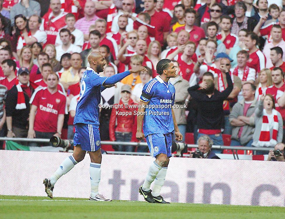 CHELSEA FLORENT MALOUDA, CELEBRATES AFTER SCORING CHELSEAS EQUALISER,  Arsenal v Chelsea, FA Cup Semi Final, Wembley Stadium, Saturday 18th April 2009