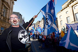 Independence campaigners marching down the Royal Mile, Edinburgh pic copyright Terry Murden @edinburghelitemedia